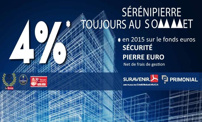 Fonds euros 2015 Sécurité pierre euros 4%